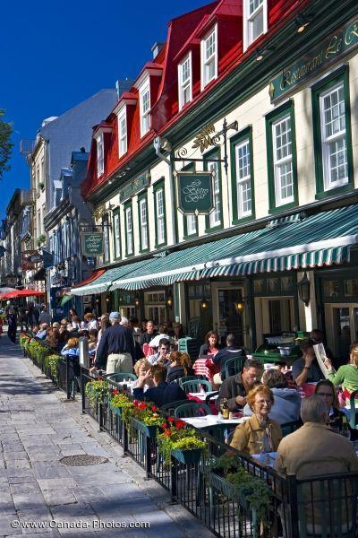 Street Cafes Place D Armes Quebec