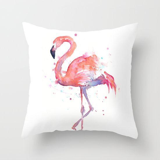 "THROW PILLOW COVER (16"" X 16"")   Flamingo   Olechka   Society6"