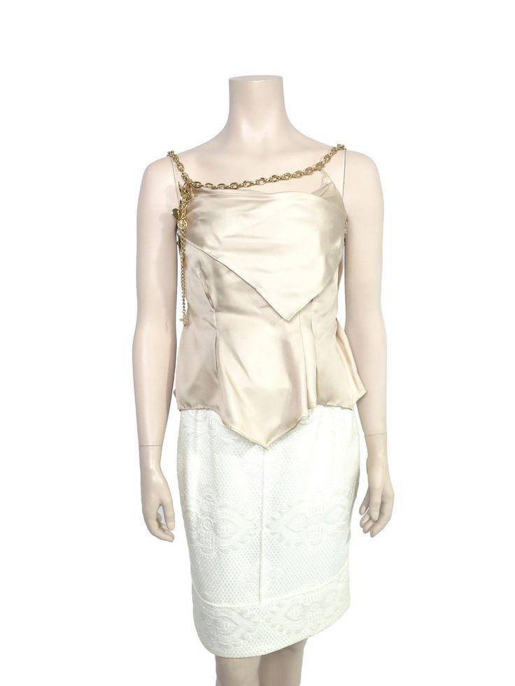 Louis Vuitton Silk Chain Top www.sabrinascloset.com