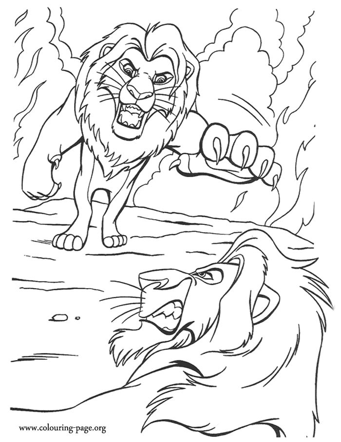 Lion King Having Fun Lion King Giraffe Having Fun Coloring Pages