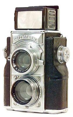 1935 Zeiss Ikon Contaflex twin-lens reflex Camera. Uses 35mm film