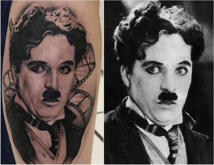 9 best charlie chaplin tattoos images on pinterest for Charlie s tattoo