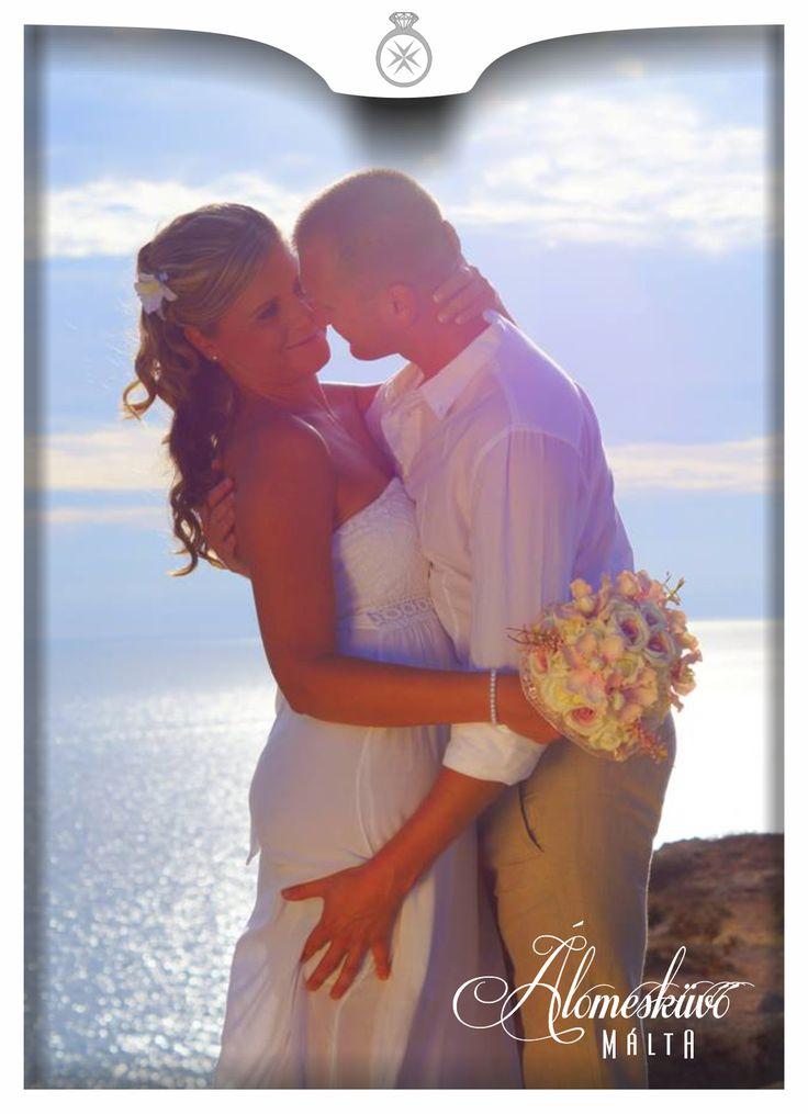 Álomesküvő Máltán esküvő, álomesküvő, Málta, Golden Bay, creativ photoshoots,