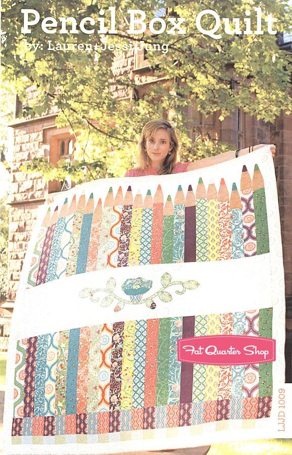 LOVE this for a special teacher! - Pencil Box Quilt Pattern Lauren + Jessi Jung - Fat Quarter ...