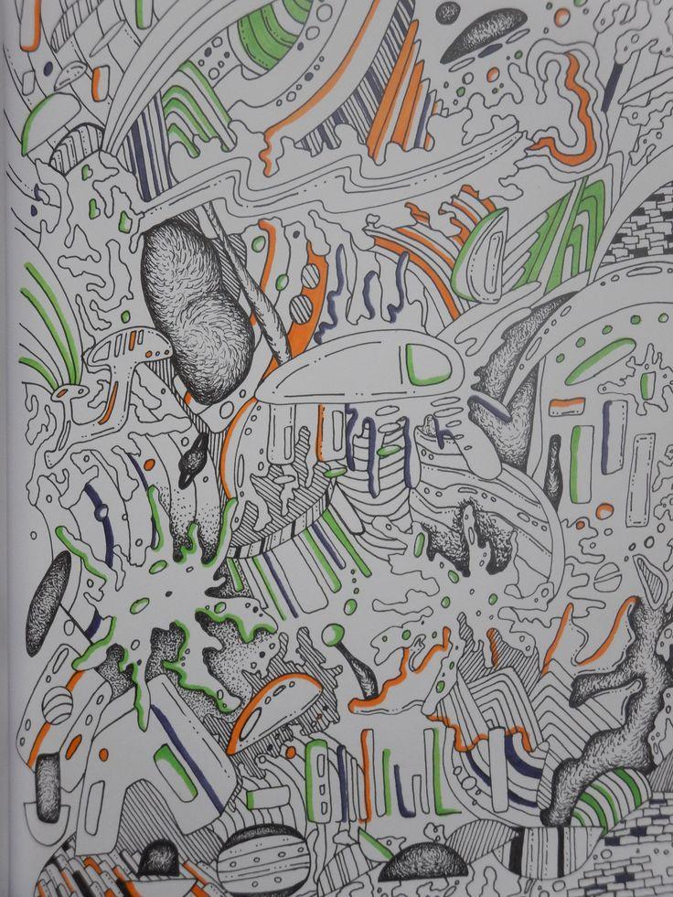 Doodle art. #doodle #copicmarkers #drawing #art