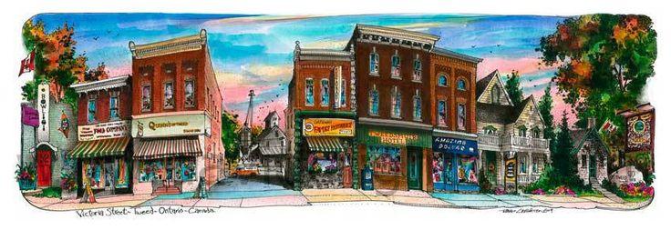 Tweed, #Ontario, #Canada by #Artist #Illustrator #DavidCrightonArt
