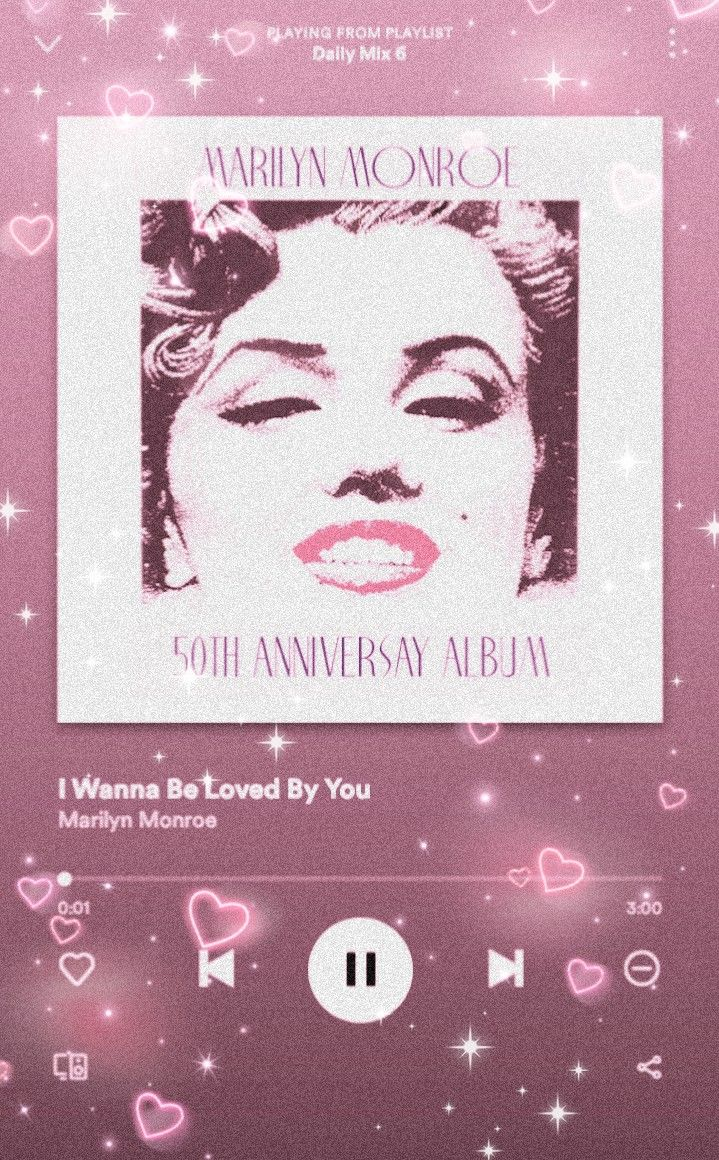 tags spotify, music, aesthetic, pink, marilyn monroe in
