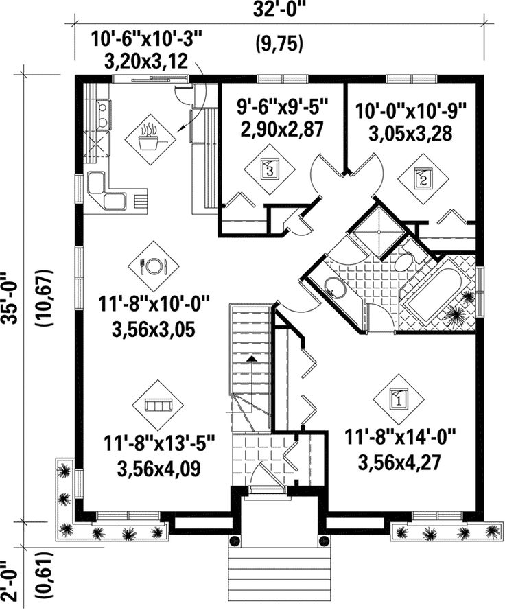 First Floor - 126D-0209 | House Plans and More