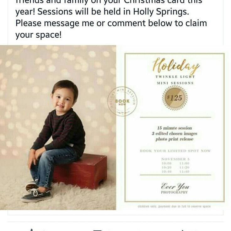 Need a holiday mini session for your photography service? Here it is! Open your session now and get more clients. Better NOW than LATER! Gorgeous photo by Everyou Photography. Good luck for your session!