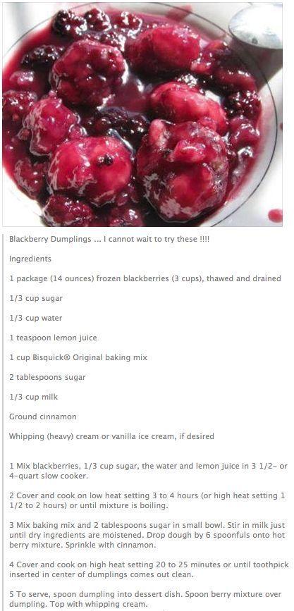 Blackberry Dumplings...::