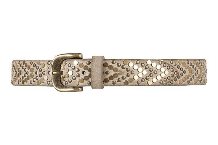 10824 jeans belt, 3,5 cm, sand.