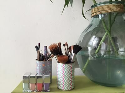 bykinanoe | DIY / recyclage / upcycling / rangement / déco Détourner une boite de conserve en pot à crayons !