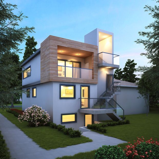 Vancouver Passive House PLUS, Canada - Custom Residence and laneway house