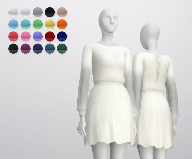 Long sleeve dress at Rusty Nail • Sims 4 Updates