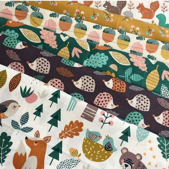 Cotton Fabric  Fat Quarter Dashwood Acorns Harvestwood