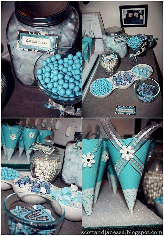 Tiffany  Company themed party with candy buffet Party Birthday Candy T  How Do It Info