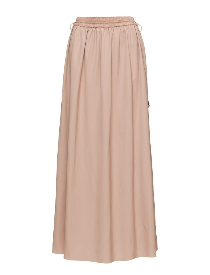 DAY - Day Rani This beautiful piece is a classic. The summer skirt has an elastic waistband, making it drape beautifully. The skirt is completed with a lightweight lining and decorative waist ties. Continue the look with the matching blouse.  Inner lining Side ties Elastic waistband