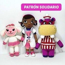 Patrón Solidario Doctora Juguetes, Hallie y Lambie