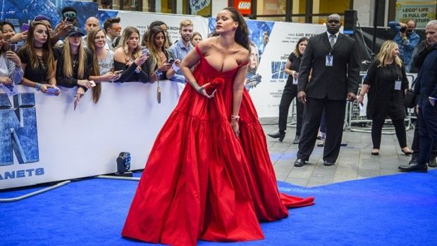 Everyone's talking about Rihanna's red dress - here it is from every angle