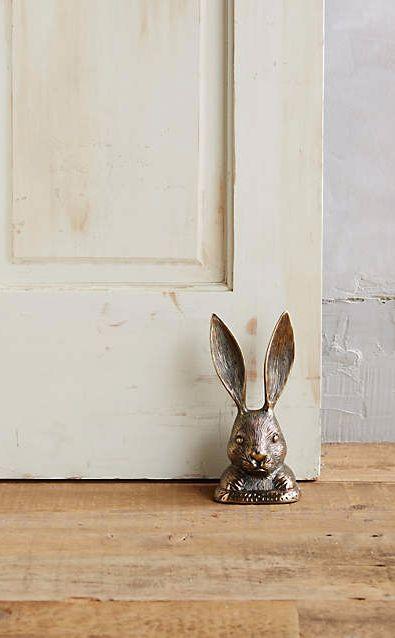 Rabbit Ears Doorstop #anthrofave
