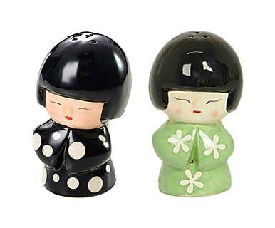 Jogo de Saleiro e Pimenteiro Japonesa