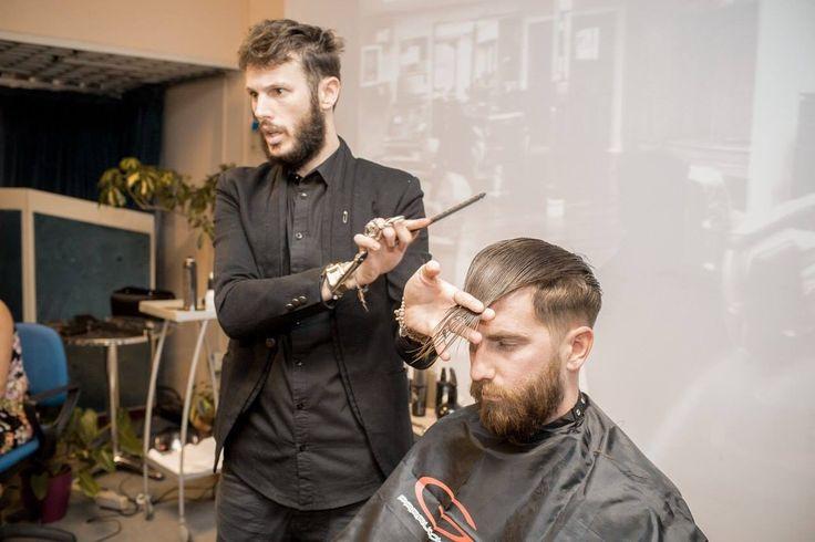 Russian Show!!! Step By Step haircut... #seminar #show #russian #friend #hairstylist #haircut