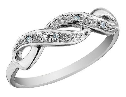 Infinity Diamond Promise Ring in 10K Rose Gold $149.00 LOVE the infinity design. Hint hint I want this