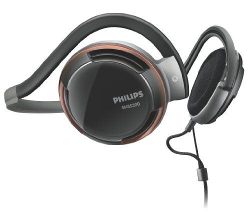 Philips Rich Bass Neckband Headphones SHS5200/28 (Replaces SHS5200)   24k gold-plated plug ensures an ultra reliable connection Bass beat vents allow air movement for better sound  Ear cushions improve wearing comfort and bass response Comfort is enhanced for long-term use Ergonomic cushions improve wearing comfort and bass  Pull Relief System increases cable dependability...