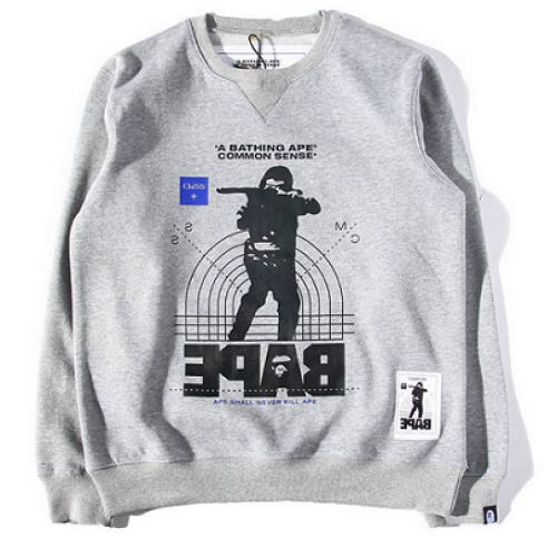 """Hit the Bape in your A Bathing Ape """"CMSS Hunter"""" Sweater   http://superdap.com/outerwear/sweaters/a-bathing-ape-cmss-hunter-sweater-gray  #abathingape #bape #bapesweater #streetfashion #urbanwear"""