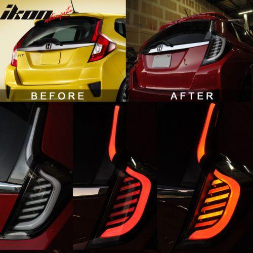 14-17-Honda-FIT-JAZZ-Full-LED-Light-Bar-Tail-Lights-Switchback-Black-Clear