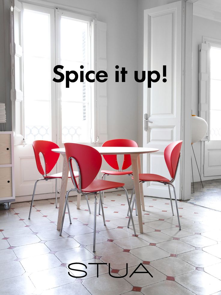The weekend is here!  Spice it up with red STUA Globus chairs! GLOBUS…