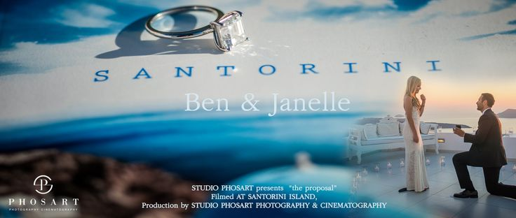 Wedding Proposal in Santorini Greece | Janelle & Ben | by Phosart