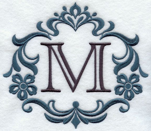 Tina: love this detail Damask Letter style