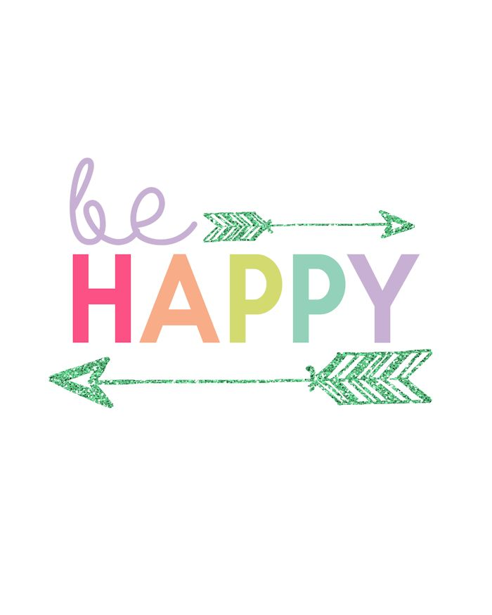 Be Happy Printable   Day 16 Kids Prints Series - The Girl Creative