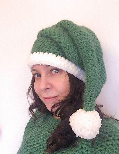 Ravelry Elf Help Hat Pattern By Dora Crochet Christmas Hat Beanie