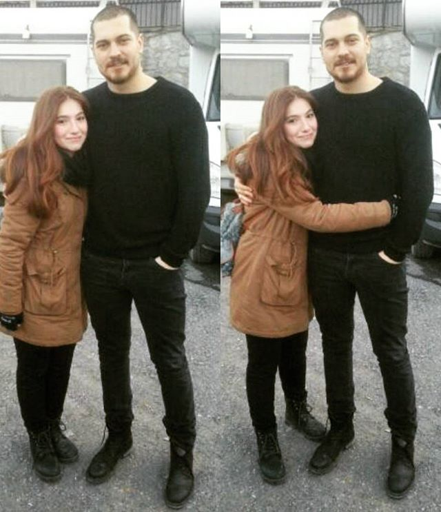 Lovely Cagatay with a fan ❤