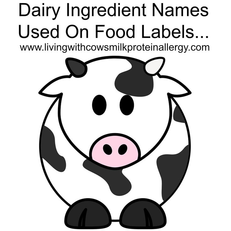 A list of dairy ingredient names used on food labeling to help you shop dairy free Dairy ingredient list, living with cow's milk protein allergy, dairy free
