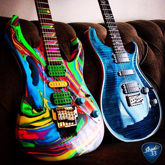 check out this amazing custom paint job from vintagetone on the ibanez jem learn to play. Black Bedroom Furniture Sets. Home Design Ideas
