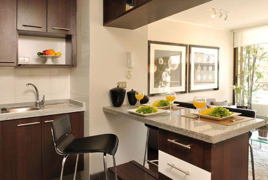 Fotos de Cocinas Pequeñas Sencillas para Apartamentos