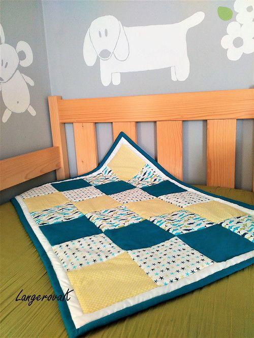 Rybičková deka modrá 90x60 cm