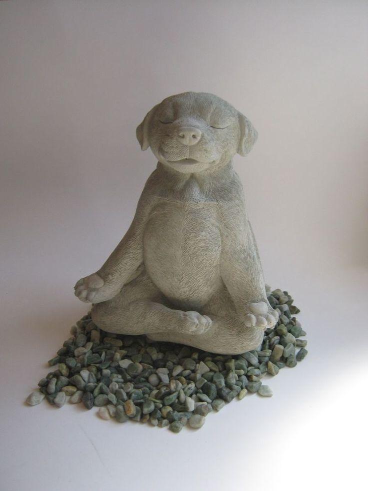 Details About Meditating Dog Statue Zen Yoga Dog