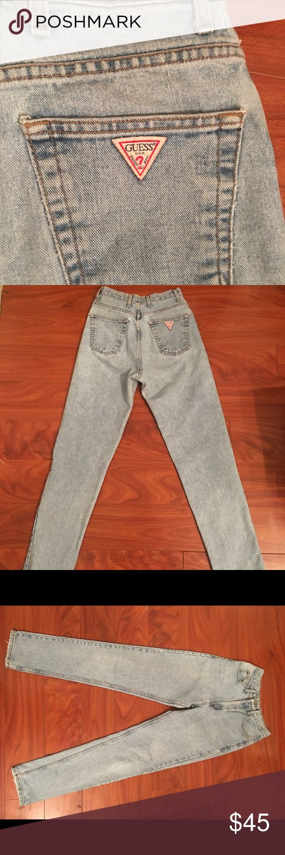Vintage guess jeans 100% cotton vintage guess jeans very nice wash vintage condition Guess Jeans Straight Leg