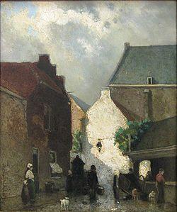 Jan Hendrik Weissenbruch -  Geschilderd nabij Schiedam in 1873