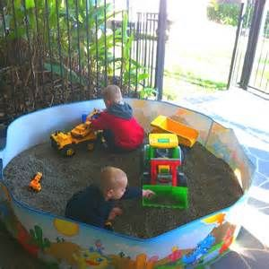 use a tent to make a sand pit for the kids - Bing Images