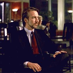 "Alan Rickman as Hans Gruber in ""Die Hard""  via GIPHY 1988"