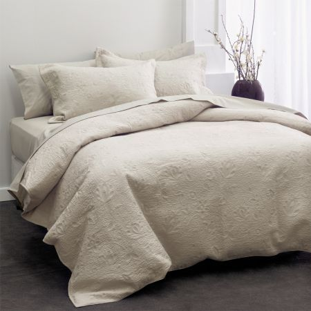 Chantal Embroidered Coverlet - Moonbeam Colour http://www.lovelylinen.co.za/product-category/coverlets/
