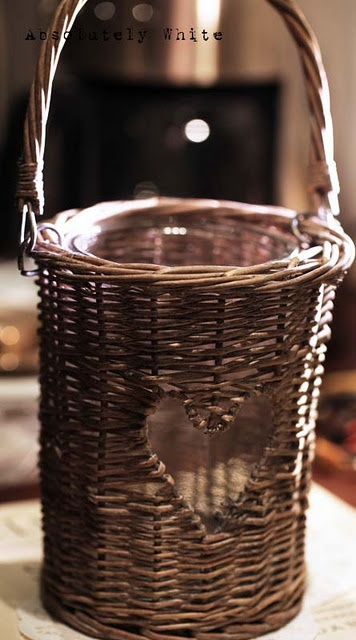 Love the heart shaped space left open in this basket.