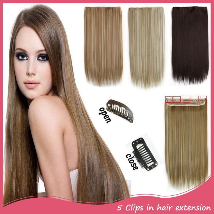 Extensiones De Pelo Natural 5Clip In Hair Extensions 24inch 60cm 120g One Piece Full Head Clip On Hair Extensions 666 Pelo