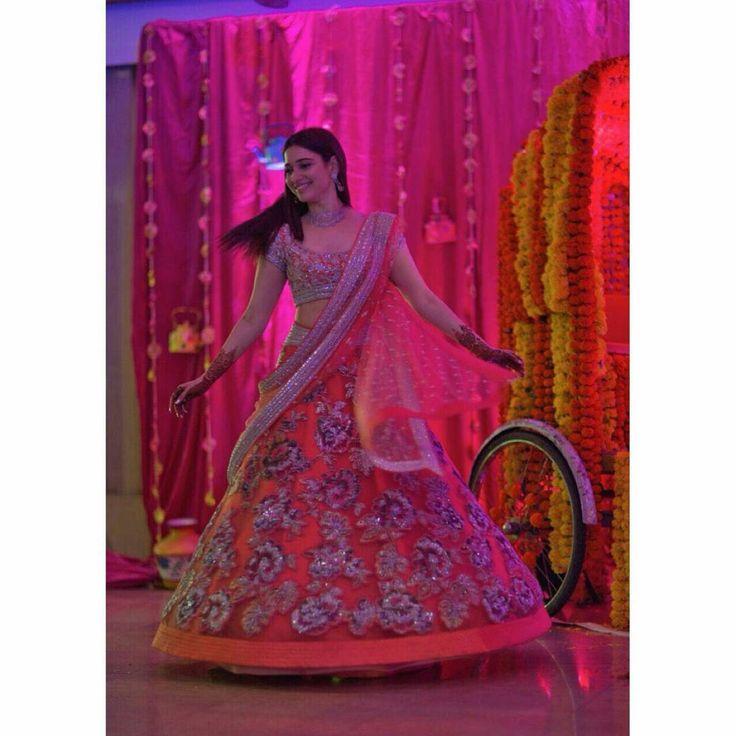 Mehendi functions= Fun times  lots of laughter.  Wearing @HouseOfNeetaLulla @Gehnajewellers1