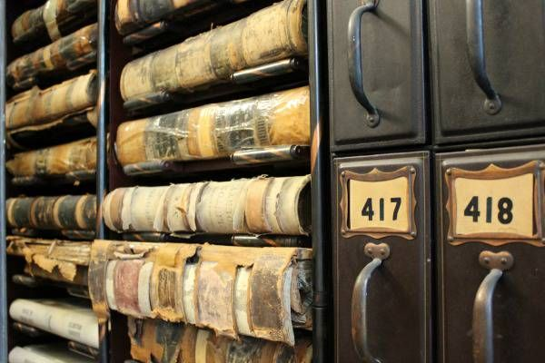 The records at the Clerk of Courts in the Clinton County Courthouse in Wilmington Ohio